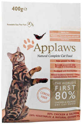 Picture of Applaws Adult Cat Chicken with extra Salmon Dry - 400g