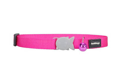 Picture of Red Dingo Cat Collar - Hot Pink - 20-32cm